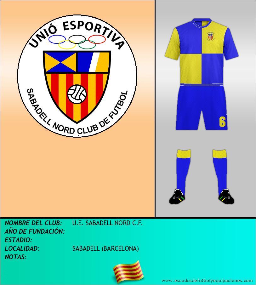 Escudo de U.E. SABADELL NORD C.F.