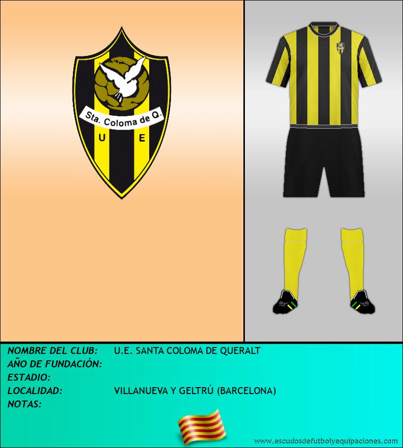 Escudo de U.E. SANTA COLOMA DE QUERALT