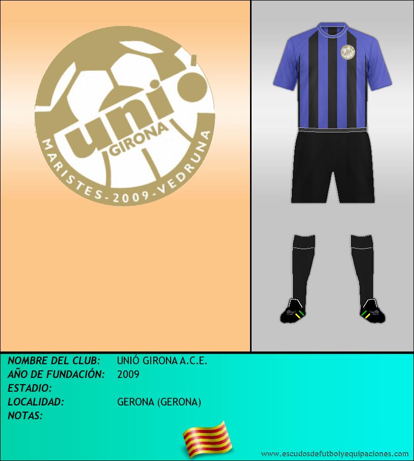 Escudo de UNIÓ GIRONA A.C.E.
