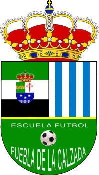 Escudo de E.F. PUEBLA DE LA CALZADA (EXTREMADURA)