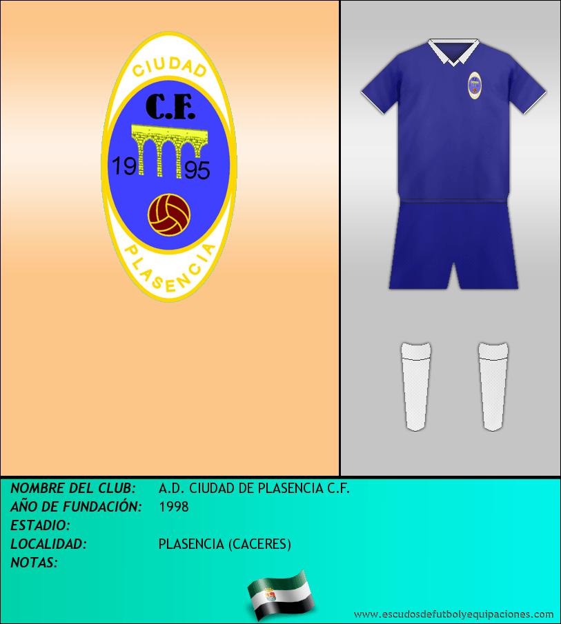 Escudo de A.D. CIUDAD DE PLASENCIA C.F.