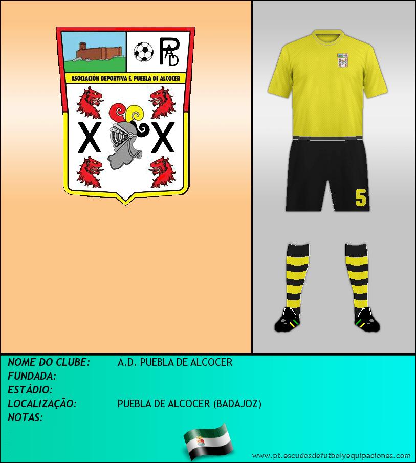 Escudo de A.D. PUEBLA DE ALCOCER