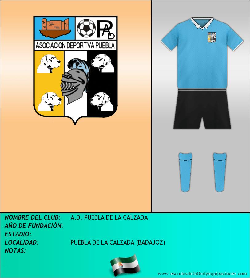 Escudo de A.D. PUEBLA DE LA CALZADA