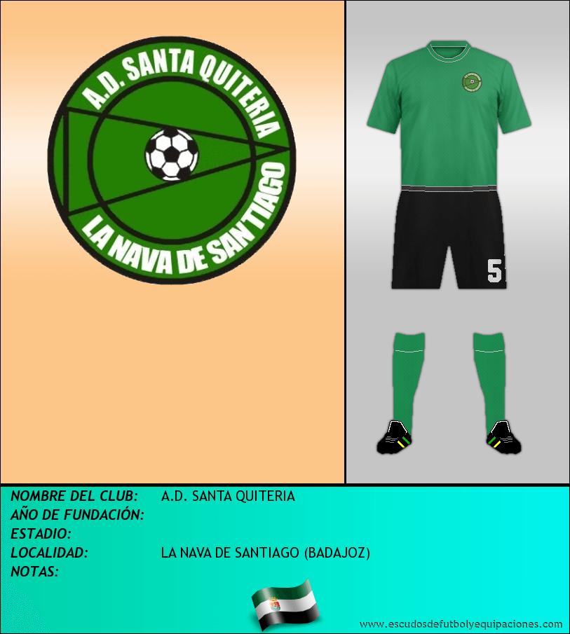 Escudo de A.D. SANTA QUITERIA