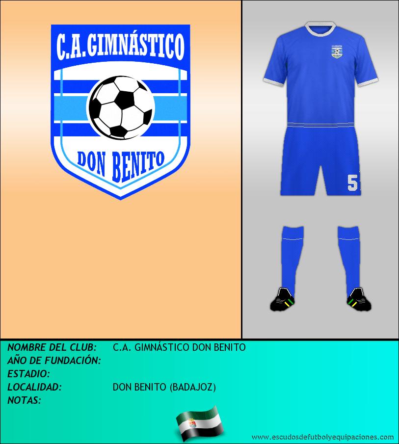 Escudo de C.A. GIMNÁSTICO DON BENITO