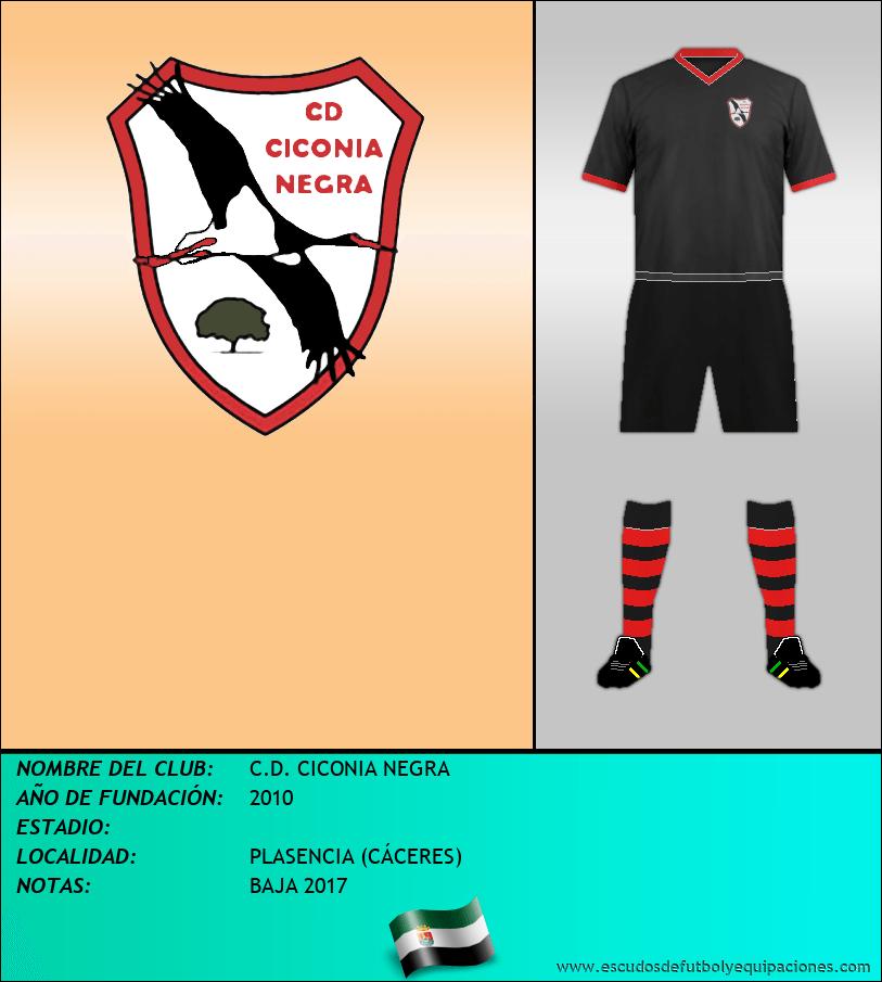 Escudo de C.D. CICONIA NEGRA