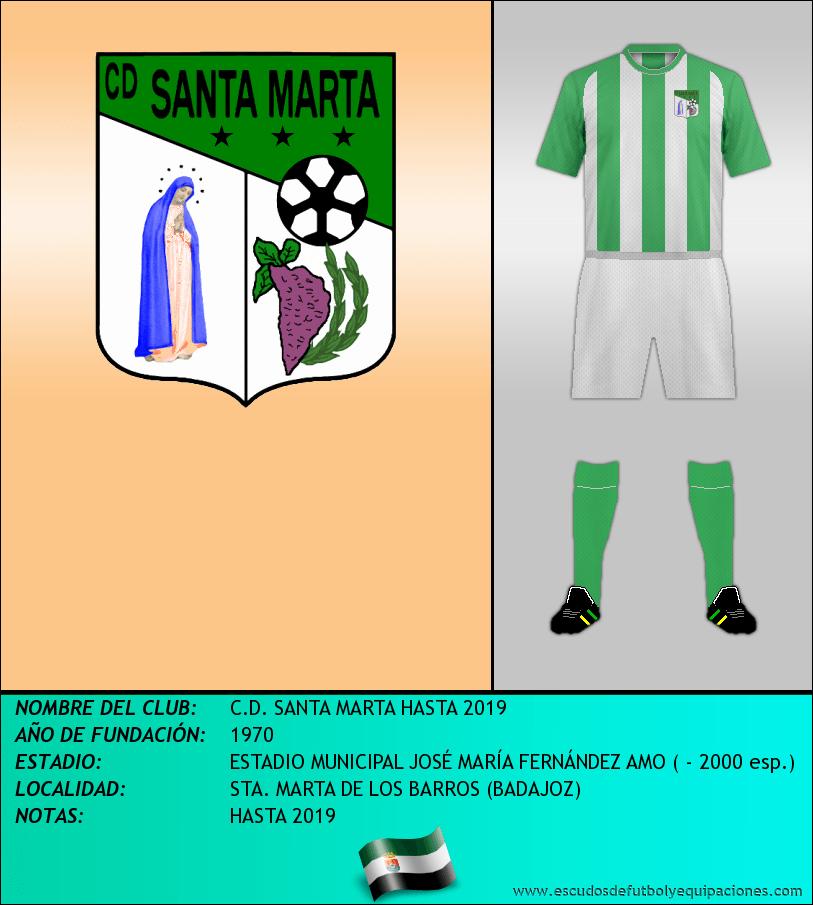 Escudo de C.D. SANTA MARTA HASTA 2019