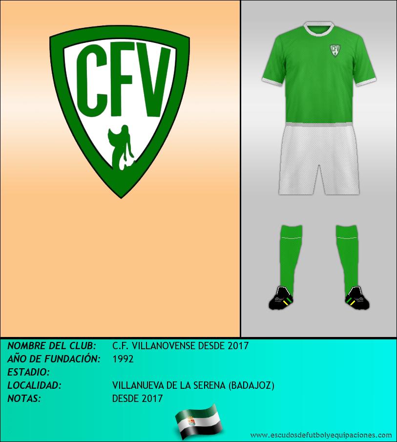 Escudo de C.F. VILLANOVENSE DESDE 2017