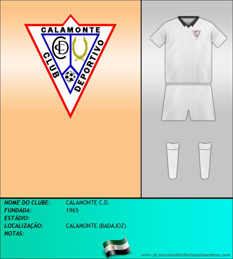 Escudo de CALAMONTE C.D.