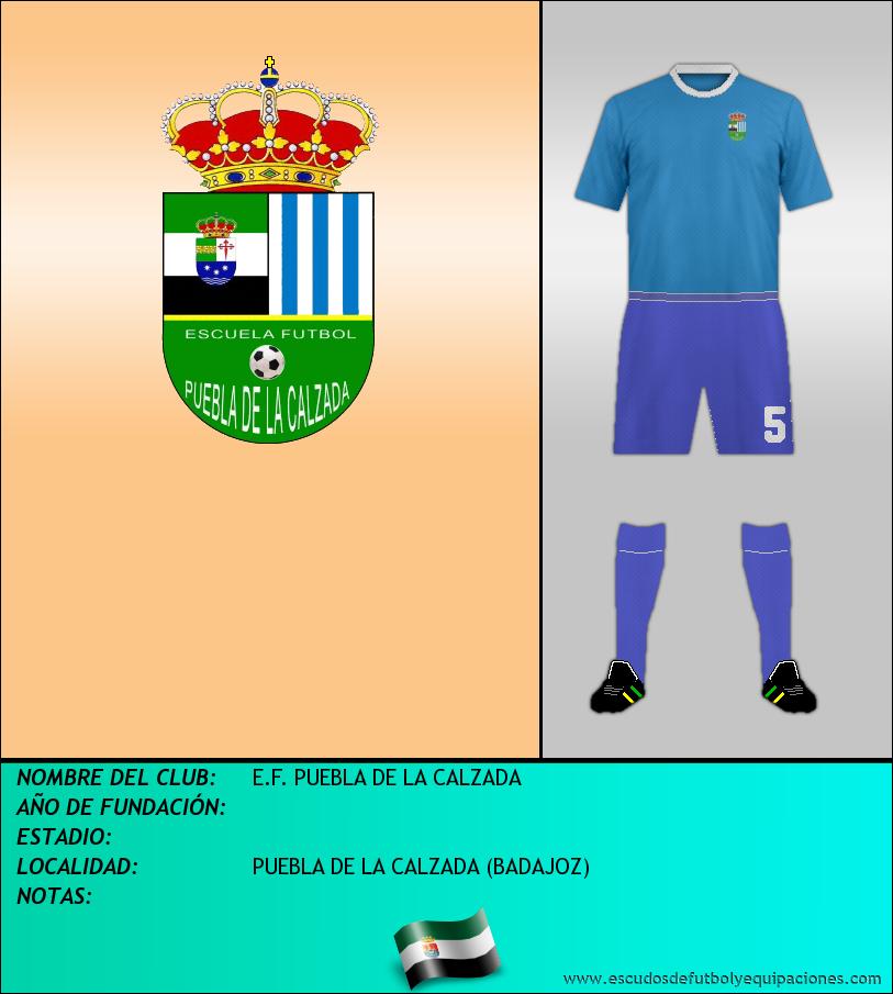 Escudo de E.F. PUEBLA DE LA CALZADA