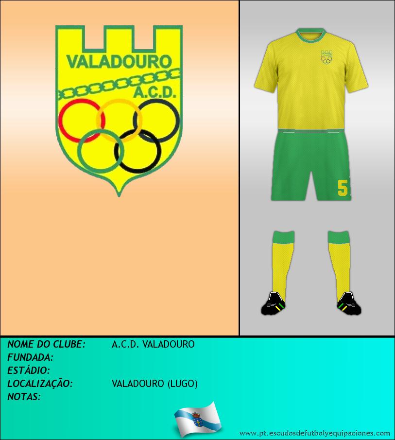 Escudo de A.C.D. VALADOURO