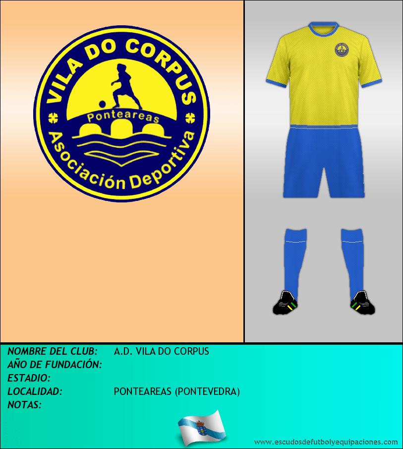 Escudo de A.D. VILA DO CORPUS