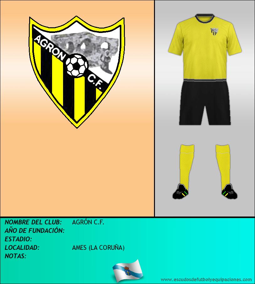 Escudo de AGRÓN C.F.