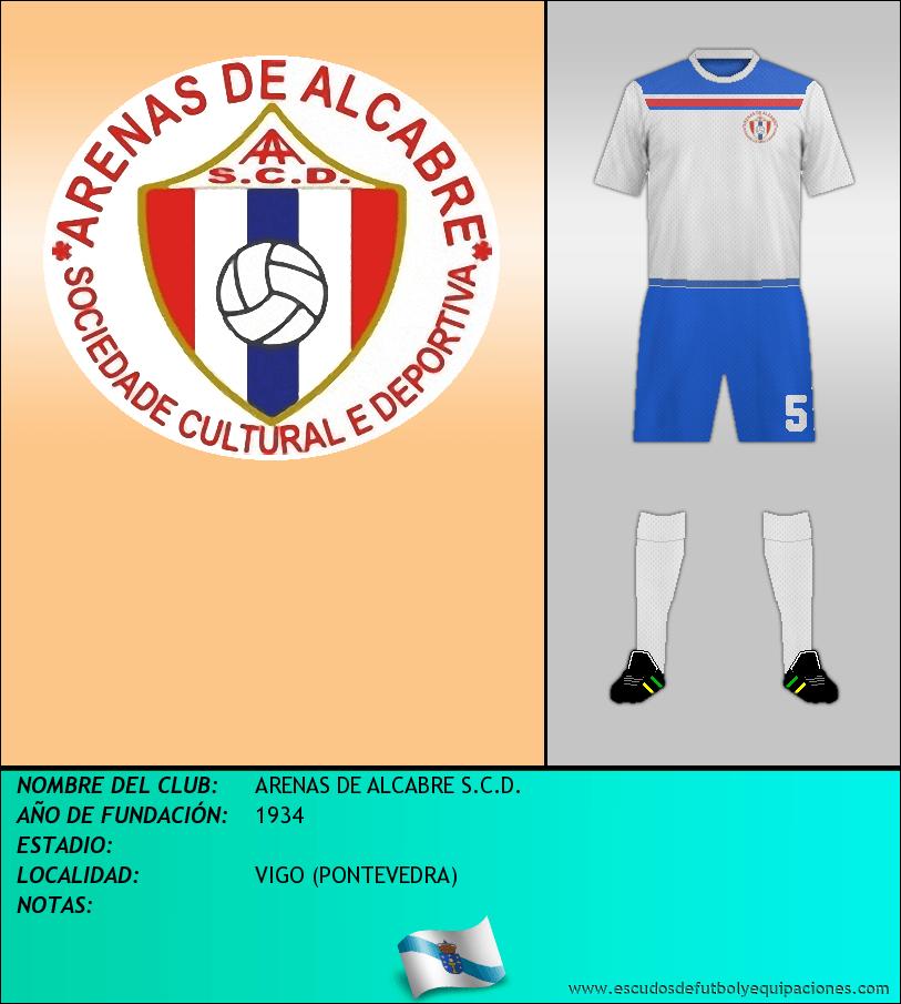 Escudo de ARENAS DE ALCABRE S.C.D.