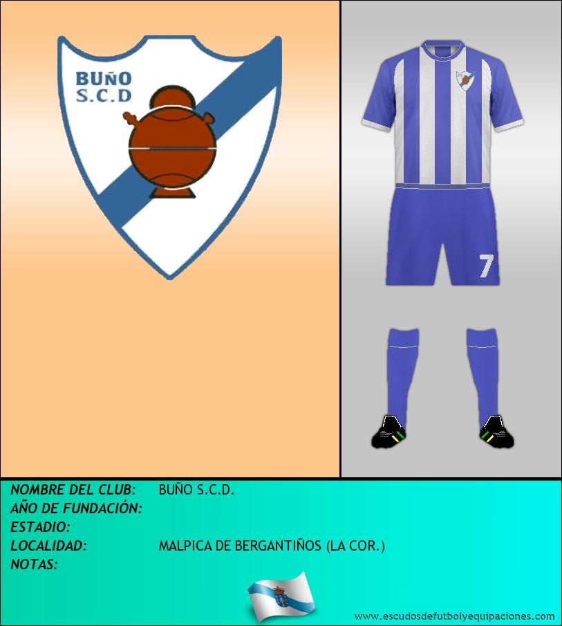 Escudo de BUÑO S.C.D.