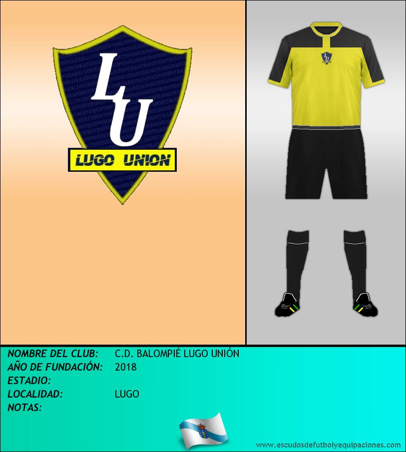 Escudo de C.D. BALOMPIÉ LUGO UNIÓN