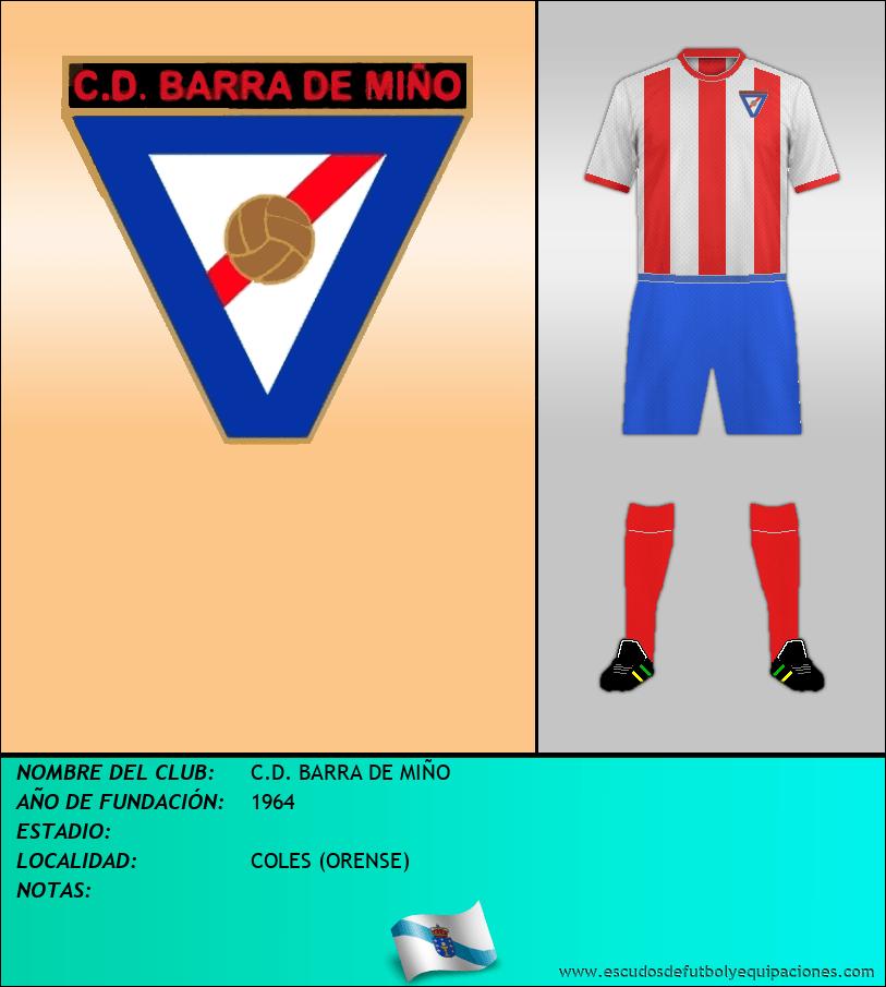 Escudo de C.D. BARRA DE MIÑO