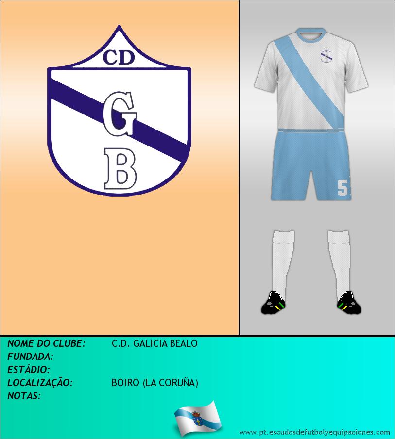 Escudo de C.D. GALICIA BEALO