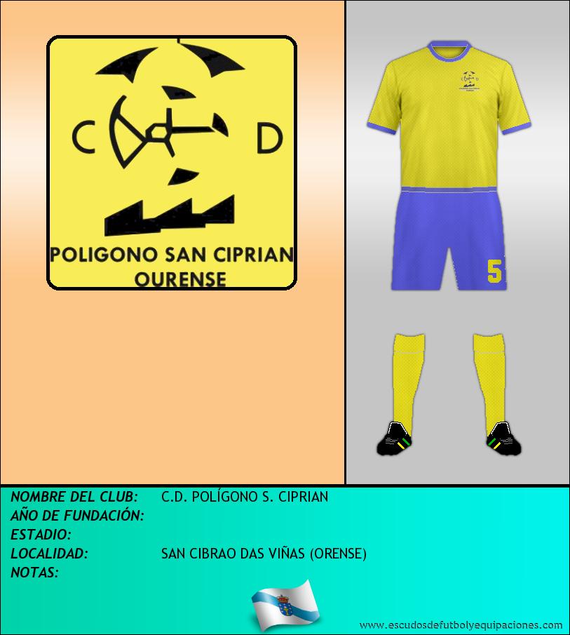 Escudo de C.D. POLÍGONO S. CIPRIAN