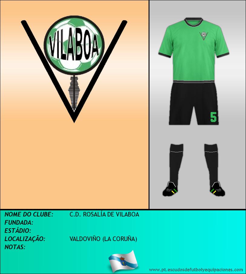 Escudo de C.D. ROSALÍA DE VILABOA