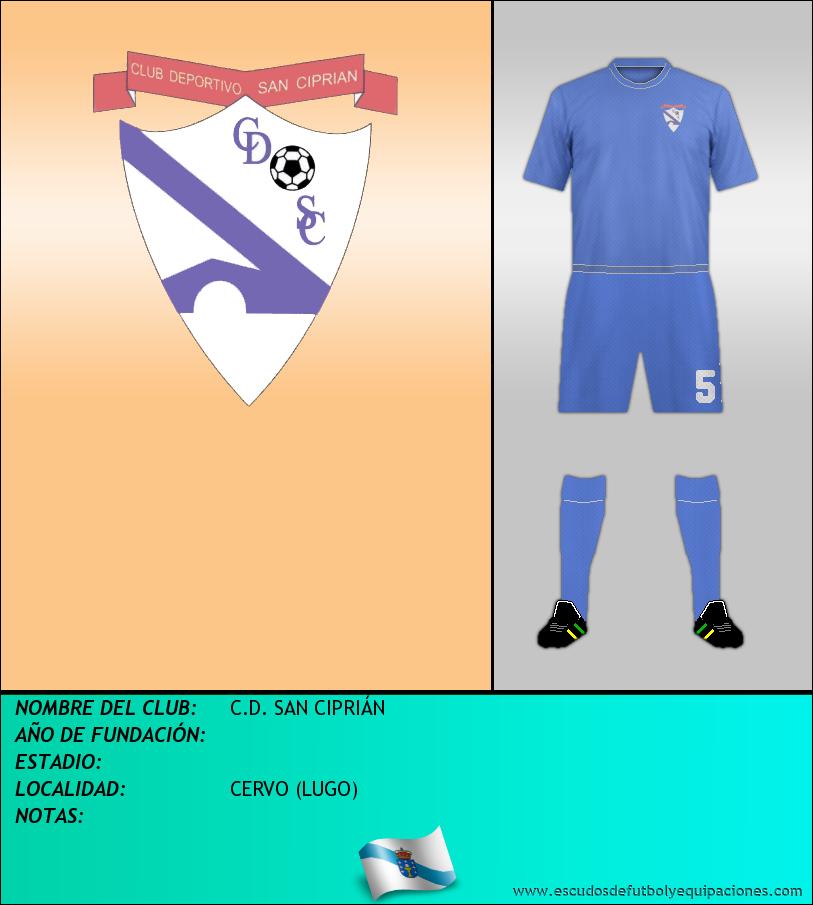 Escudo de C.D. SAN CIPRIÁN