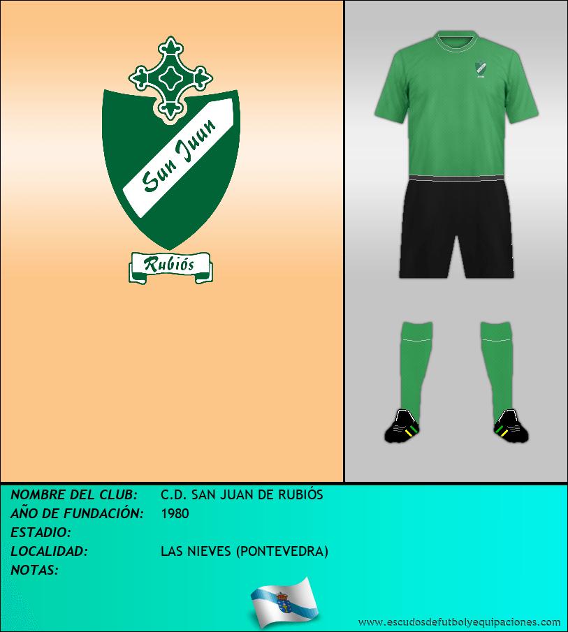 Escudo de C.D. SAN JUAN DE RUBIÓS