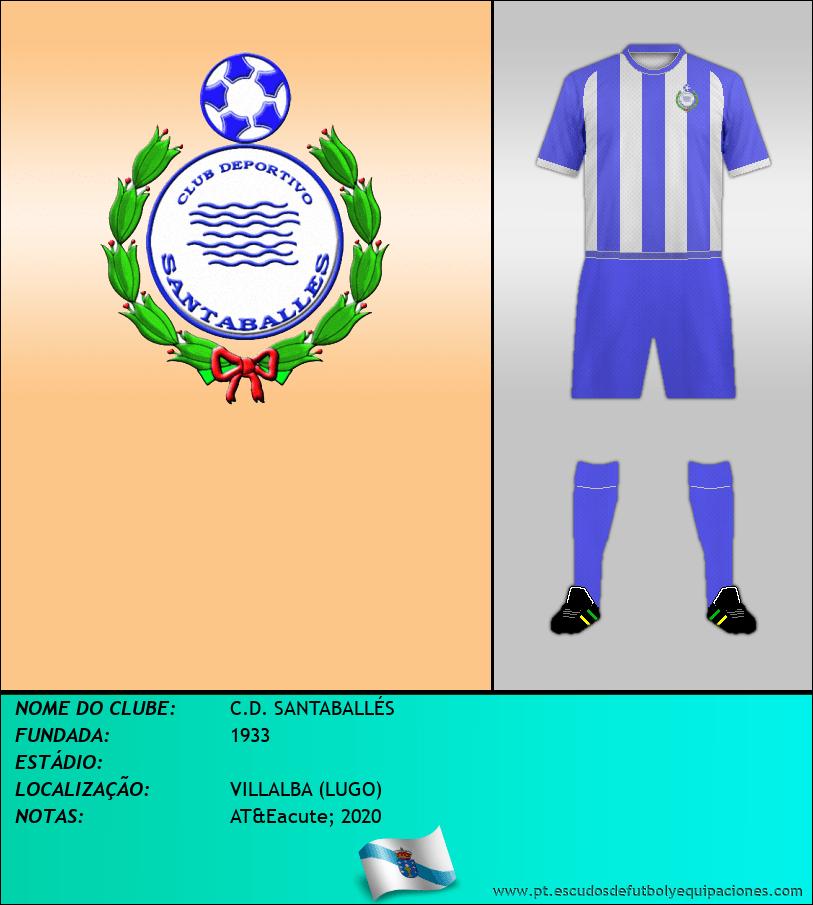 Escudo de C.D. SANTABALLÉS