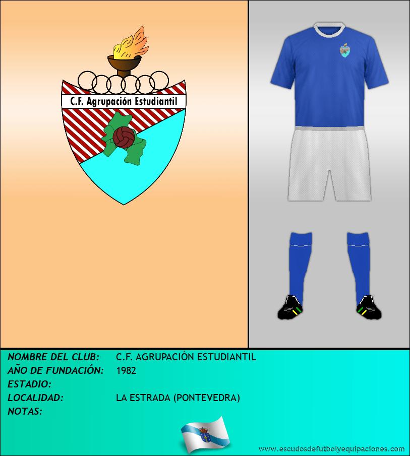 Escudo de C.F. AGRUPACIÓN ESTUDIANTIL