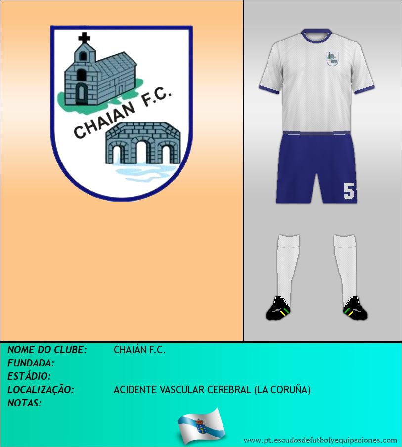 Escudo de CHAIÁN F.C.