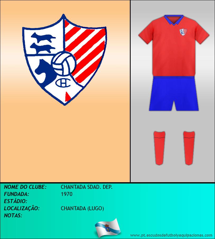 Escudo de CHANTADA SDAD. DEP.