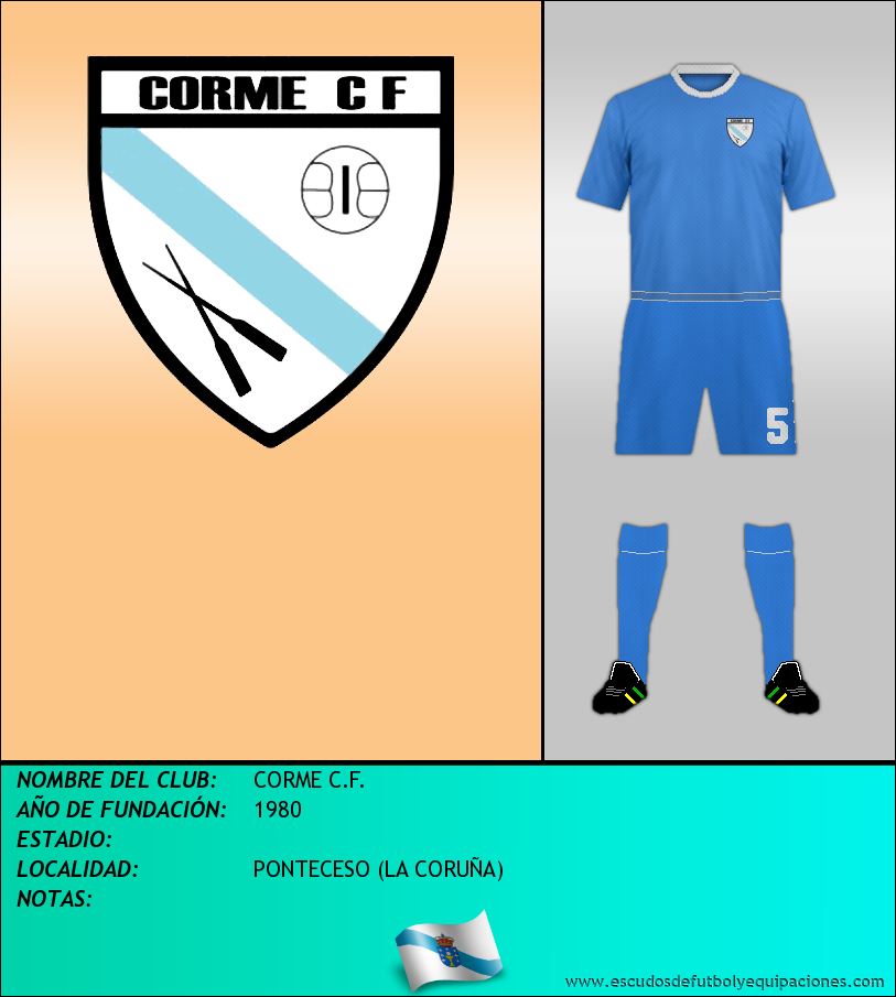 Escudo de CORME C.F.