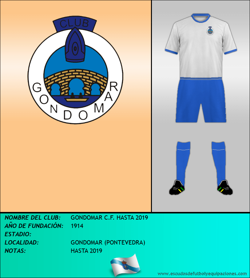 Escudo de GONDOMAR C.F. HASTA 2019