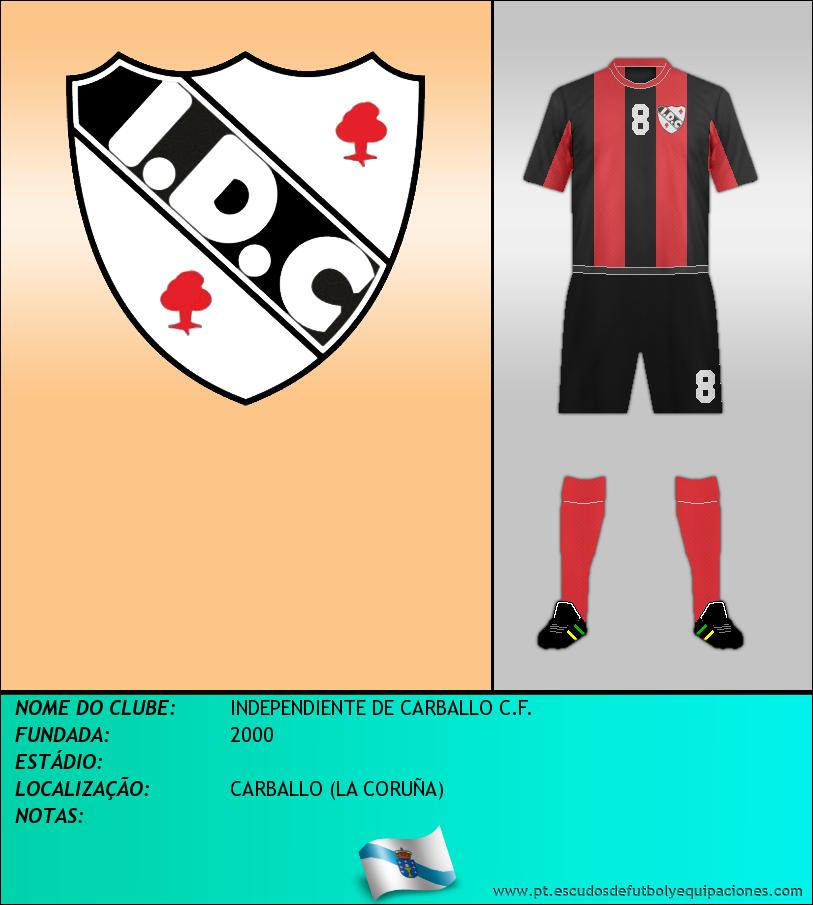 Escudo de INDEPENDIENTE DE CARBALLO C.F.