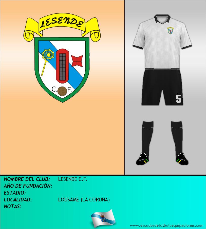 Escudo de LESENDE C.F.