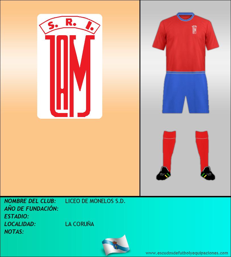 Escudo de LICEO DE MONELOS S.D.