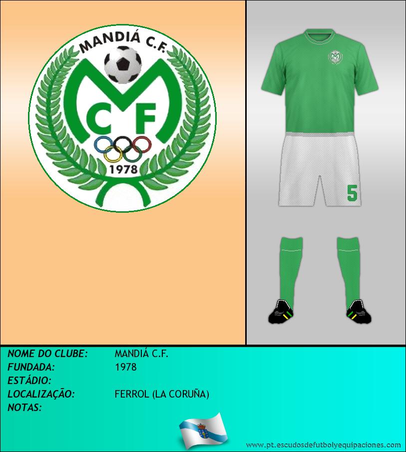 Escudo de MANDIÁ C.F.