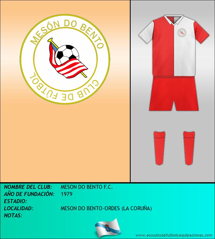 Escudo de MESON DO BENTO F.C.