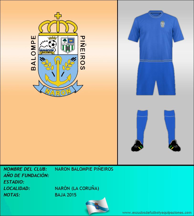 Escudo de NARON BALOMPIE PIÑEIROS