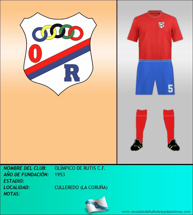 Escudo de OLÍMPICO DE RUTIS C.F.