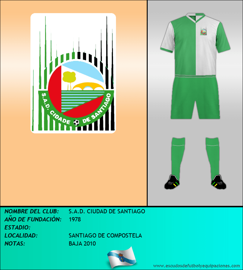 Escudo de S.A.D. CIUDAD DE SANTIAGO