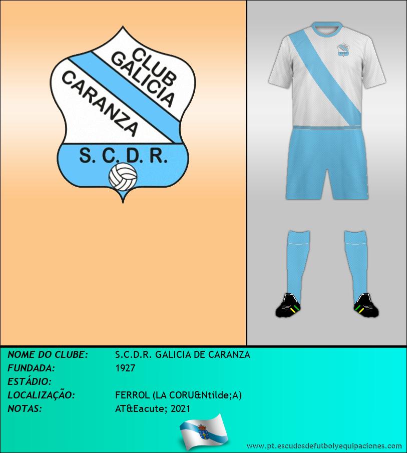 Escudo de S.C.D.R. GALICIA DE CARANZA