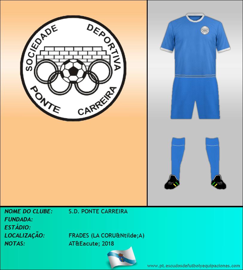Escudo de S.D. PONTE CARREIRA