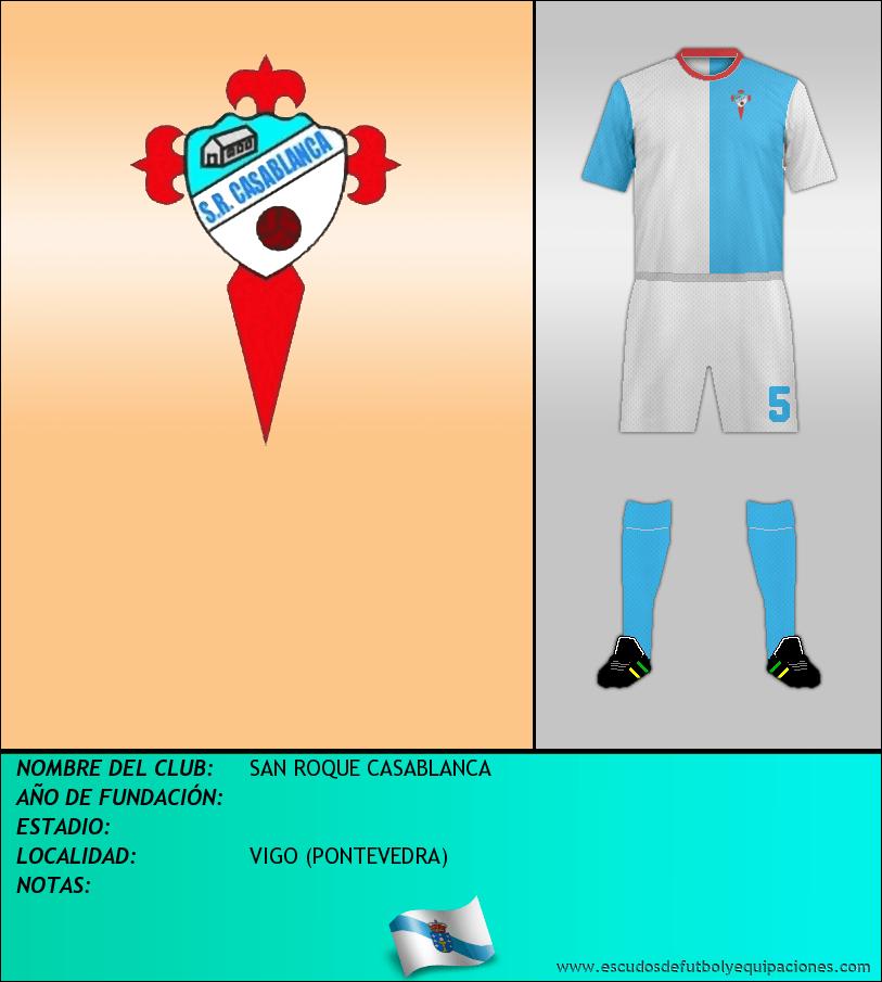 Escudo de SAN ROQUE CASABLANCA