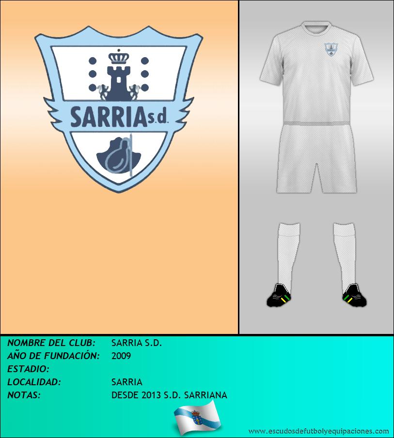 Escudo de SARRIA S.D.