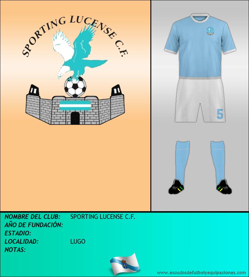 Escudo de SPORTING LUCENSE C.F.