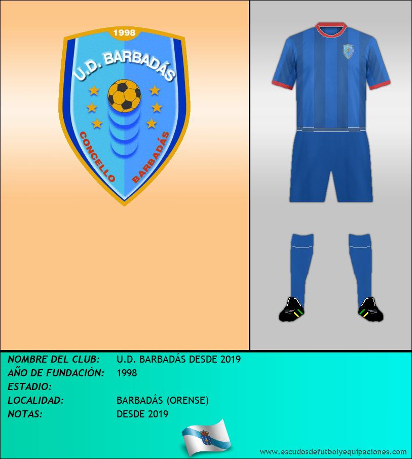 Escudo de U.D. BARBADÁS DESDE 2019
