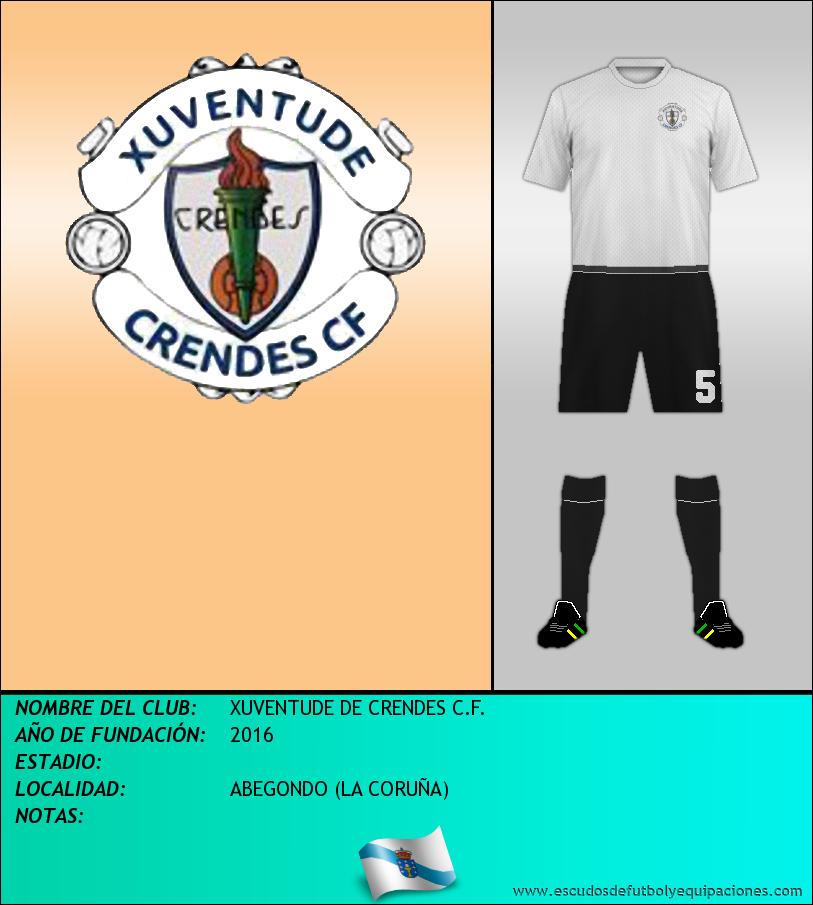 Escudo de XUVENTUDE DE CRENDES C.F.