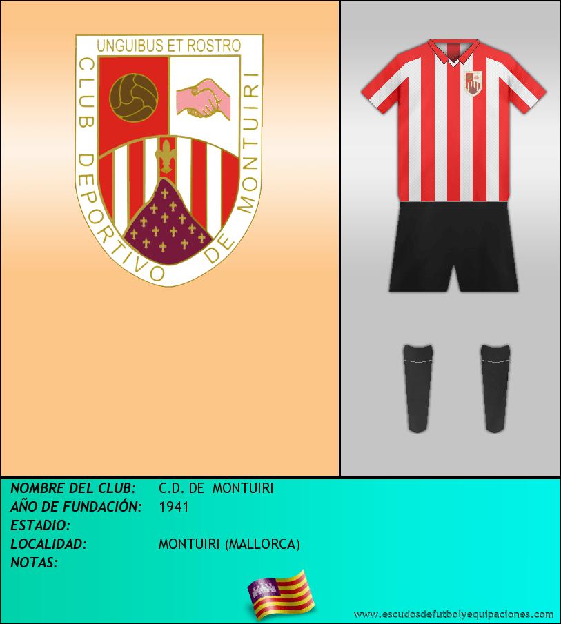 Escudo de C.D. DE  MONTUIRI