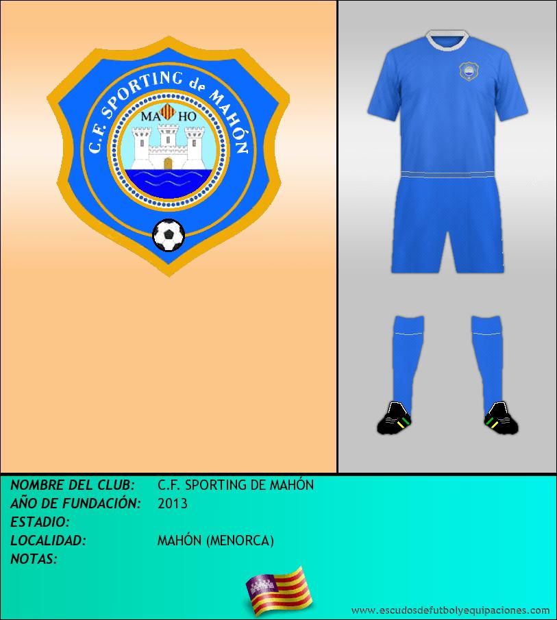 Escudo de C.F. SPORTING DE MAHÓN