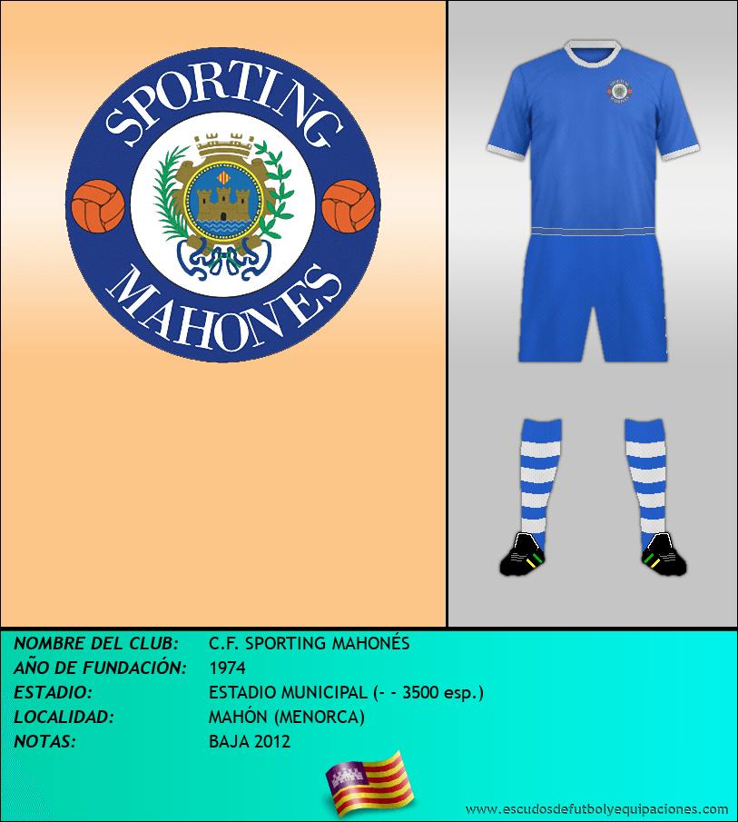Escudo de C.F. SPORTING MAHONÉS